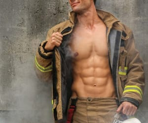 firefighter, Hot, and handsome image