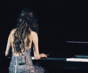 selena gomez, revival tour, and piano image