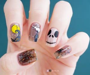beauty, jack skellington, and nail image