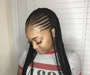 braids, female, and hairstyle image