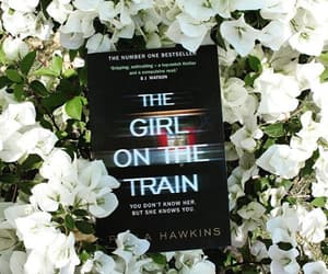 books, flowers, and the girl on the train image
