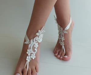 bridal shoes, barefoot sandals, and bridesmaid gifts image