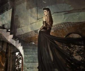 beauty, ruin, and black dress image