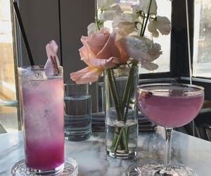 drink and flowers image