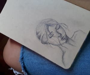 art, beuty, and drawing image