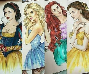 belle, cinderella, and the little mermaid image