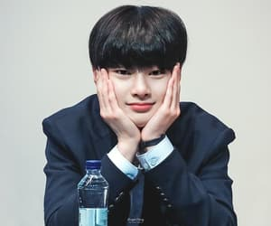 black hair, fansign, and 180505 image