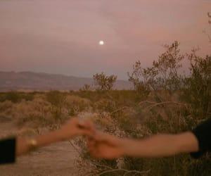 boy, girl, and moon image