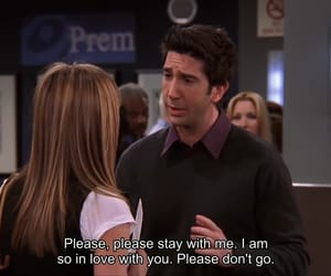 friends, ross geller, and love image