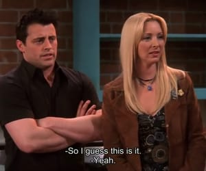 joey tribbiani, pheobe buffay, and friends image