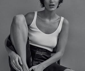 bella hadid, march 2019, and black and white image