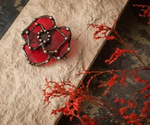etsy, flower brooch, and vintagebrooch image