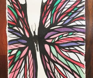 butterfly art, original painting, and originalart image