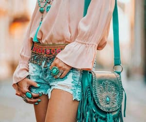 bohemian, hippie, and outfit image