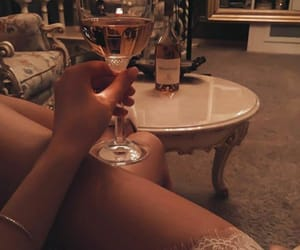 champagne, night, and woman image