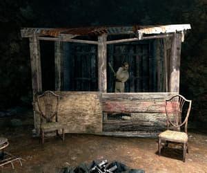 camp, shack, and run-down image