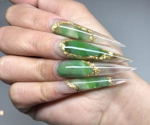 acrylics, nails, and stiletto image
