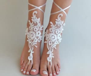 etsy, handmade, and lace shoes image