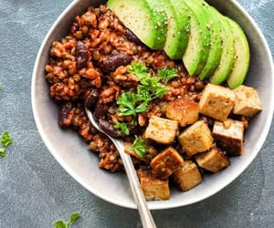 food, healthy, and beans image