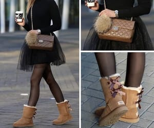 black, uggs, and cute image