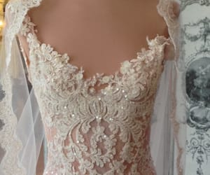 beaded, bridal, and lace image