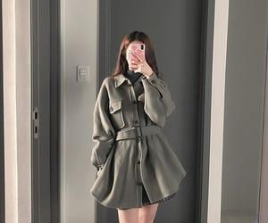 coat, koreanstyle, and fashion image