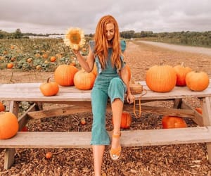 jumpsuit, pumpkin, and alexis may image