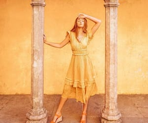 dress, yellow, and alexis may image