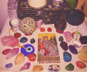 aesthetic, candles, and crystals image