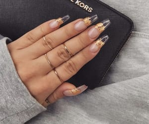 nails, gold, and Michael Kors image