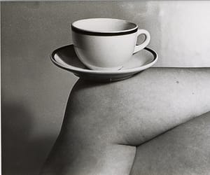 black and white, coffee cup, and coffee image