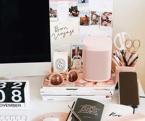 desk, workspace, and modern homes image