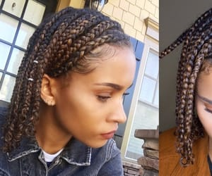 black hair, cornrows, and hairstyles image