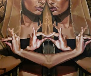 art, portrait, and sacred image