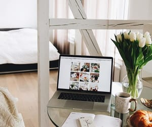 home, interior, and laptop image