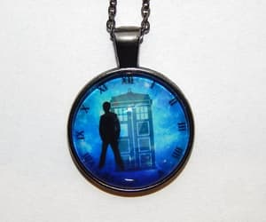 etsy, police box necklace, and police box pendant image