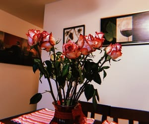 decor and pink roses image