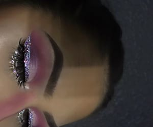makeup, glitter, and style image