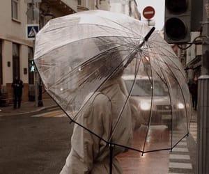 fashion, city, and rain image