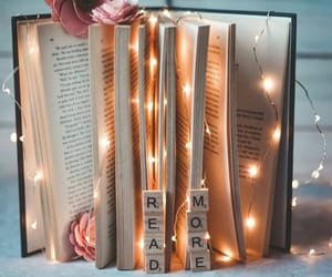 book, light, and read image