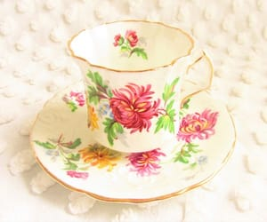 1950s, bone china, and cottage chic image