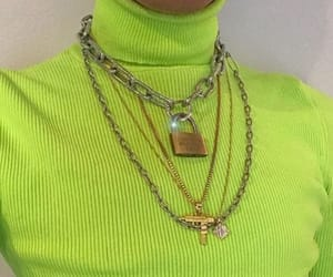 chains, gold, and green image