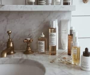 beauty, bathroom, and makeup image