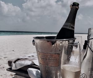 summer, beach, and champagne image