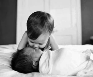 baby, cute, and black&white image