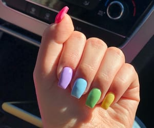 color, manicure, and nails image