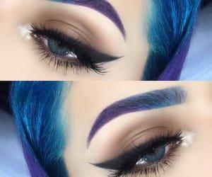 alternative, color, and eye make up image