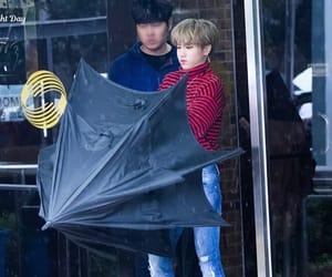 idol, umbrella, and stray kids image