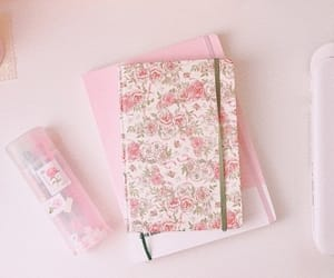 aesthetic, floral, and journal image