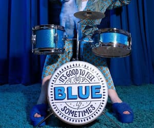 blue, drums, and words image